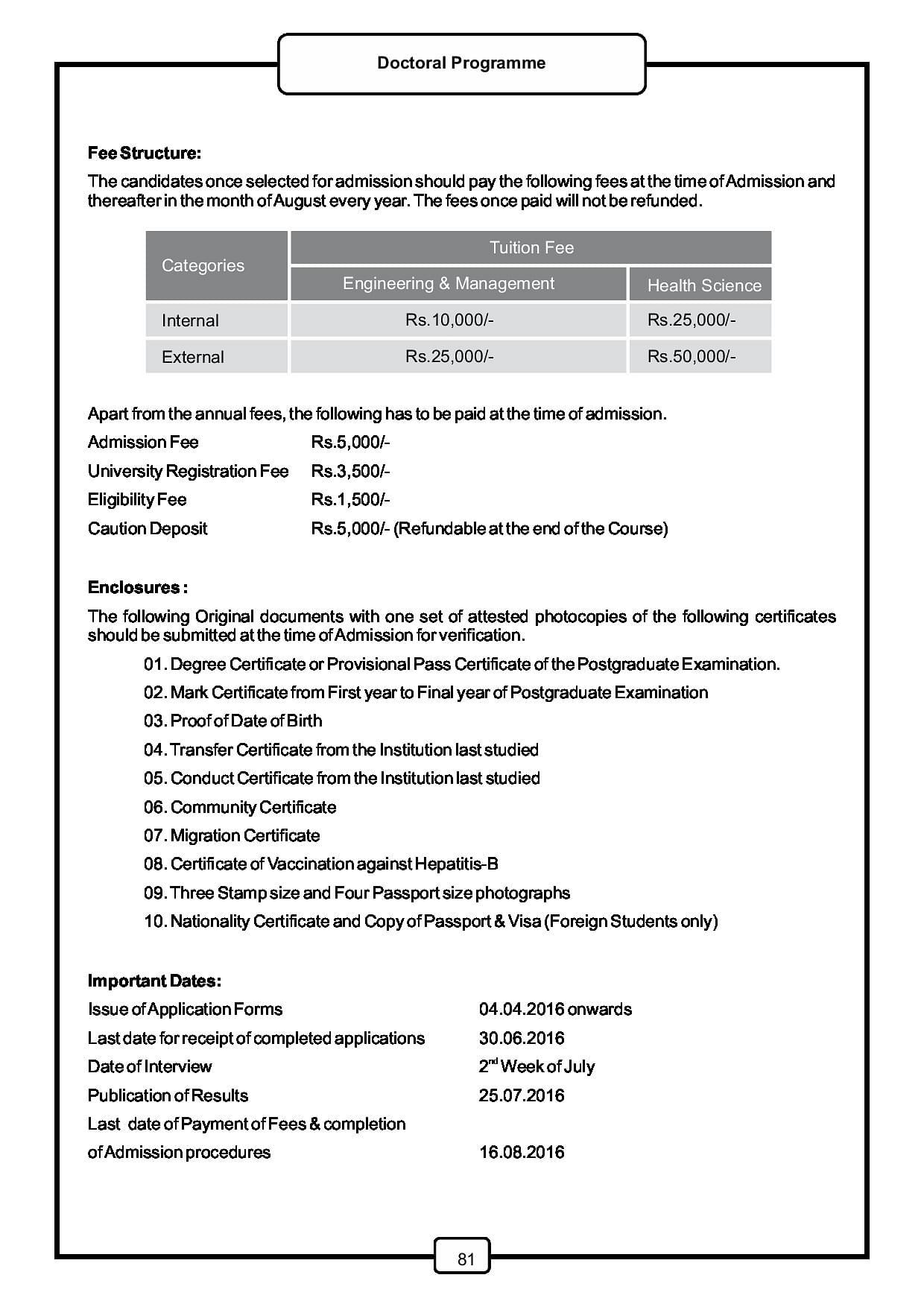 Saveetha dental college hospital chennai admissions contact 2016phd brochure aiddatafo Images