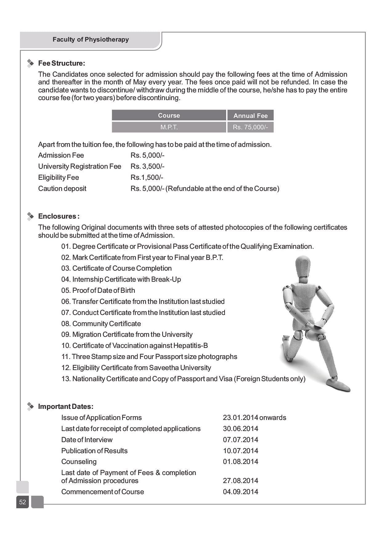 Saveetha college of physiotherapy chennai admissions contact 2016mpt brochure aiddatafo Images