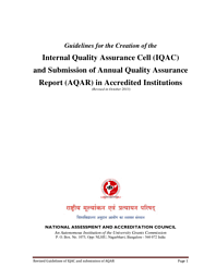 Annual Quality Assurance Report 2013-2014