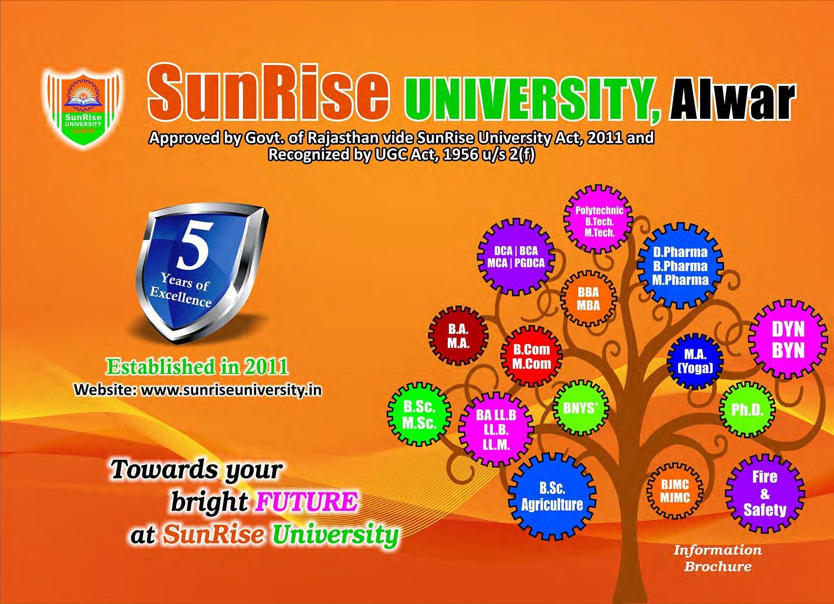 SunRise University (SRU), Alwar - Admissions, Courses, Fees, Placement