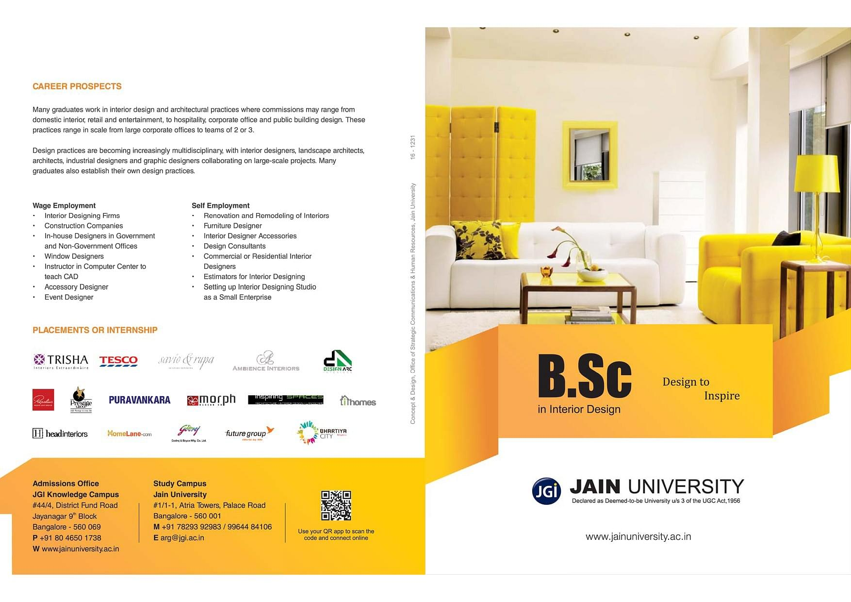 distance learning interior design bsc in interior design