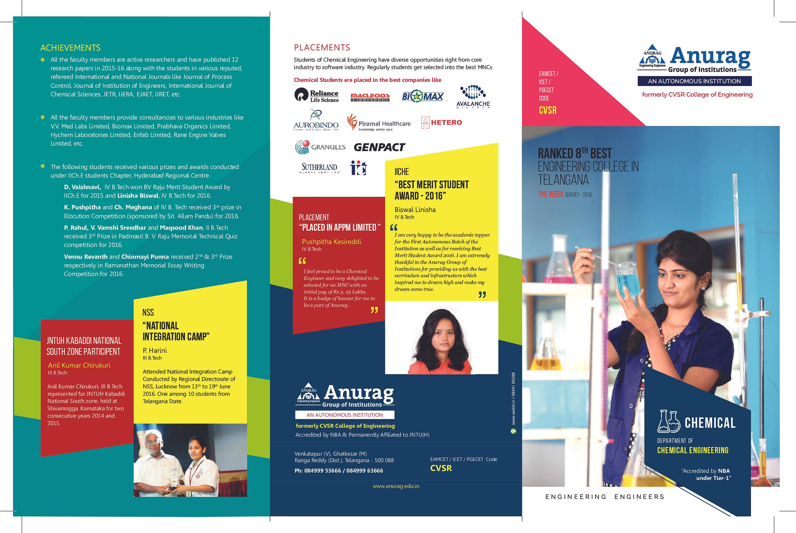 Anurag Group of Institutions, Ghatkesar - Admissions