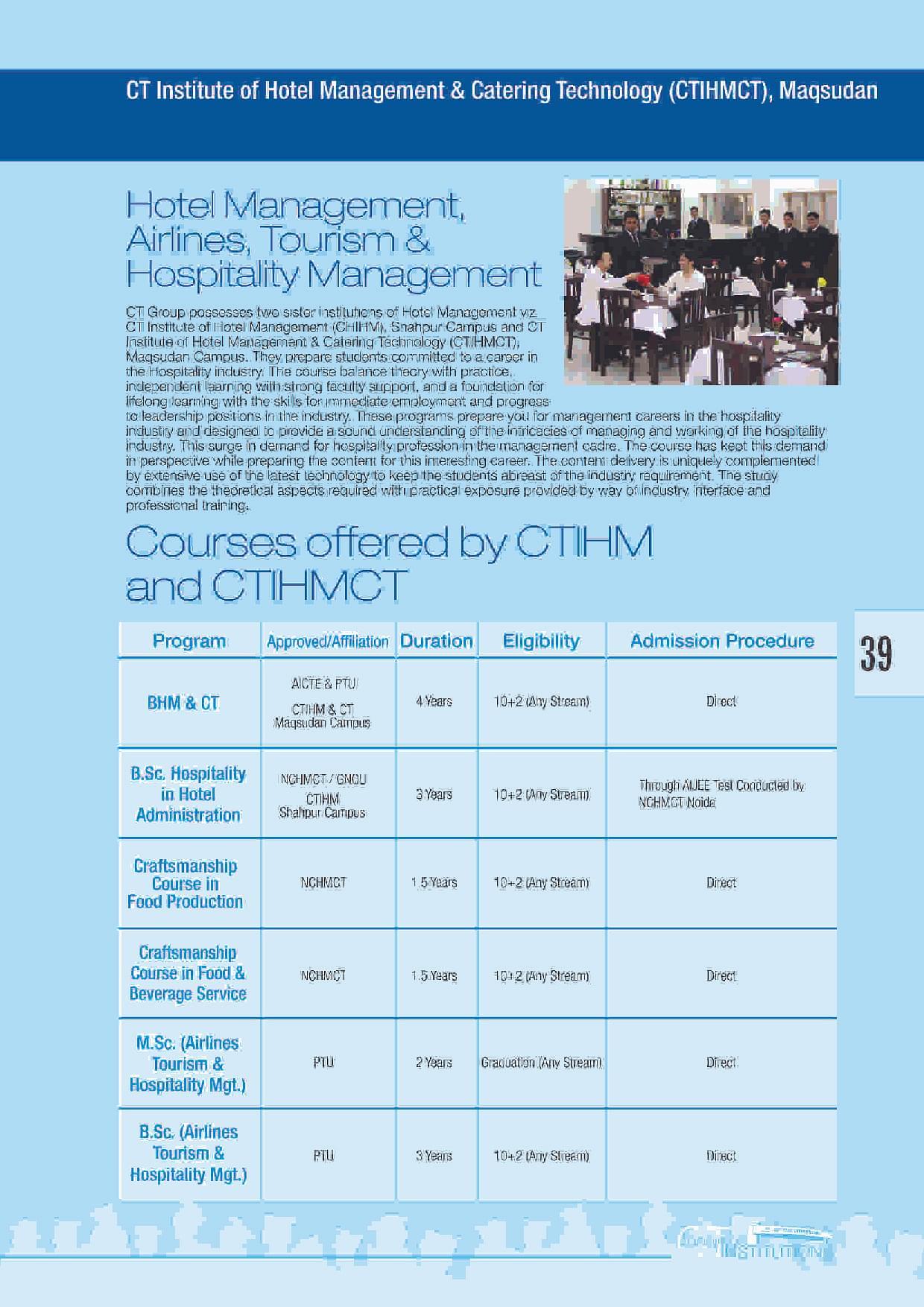 CT Institute of Hotel Management & Catering Technology, Jalandhar