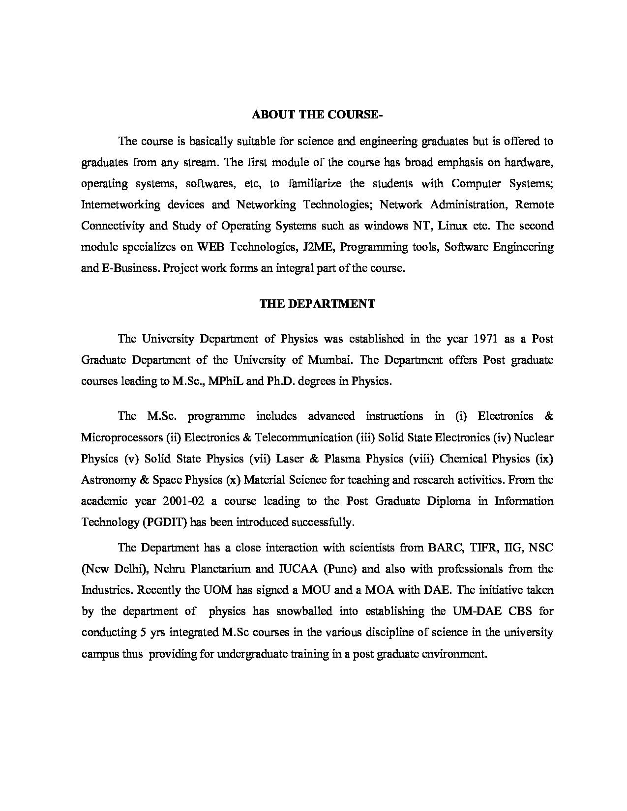 University of mumbai mumbai admissions contact website 2016information malvernweather Choice Image
