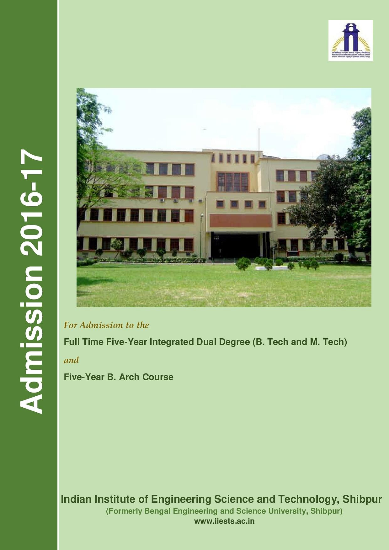 Indian Institute of Engineering Science and Technology - [IIEST] Shibpur, Howrah - Admissions ...