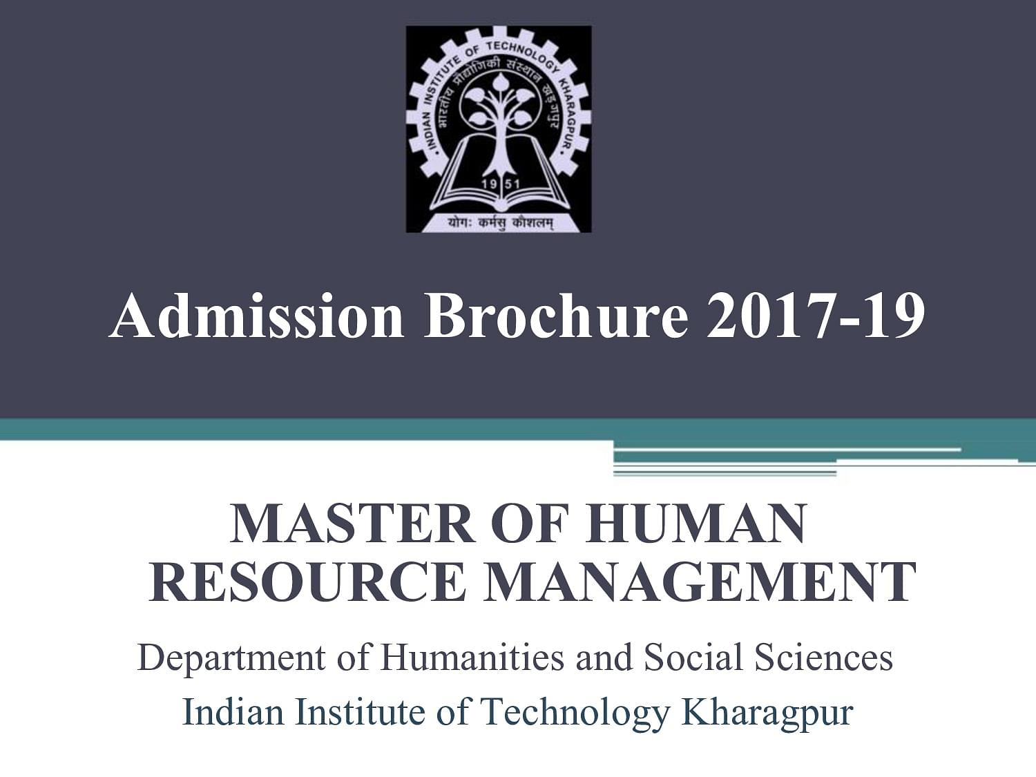 Indian institute of technology kharagpur - Indian Institute Of Technology Iit Kharagpur Admission Brochure 2017 19 Image