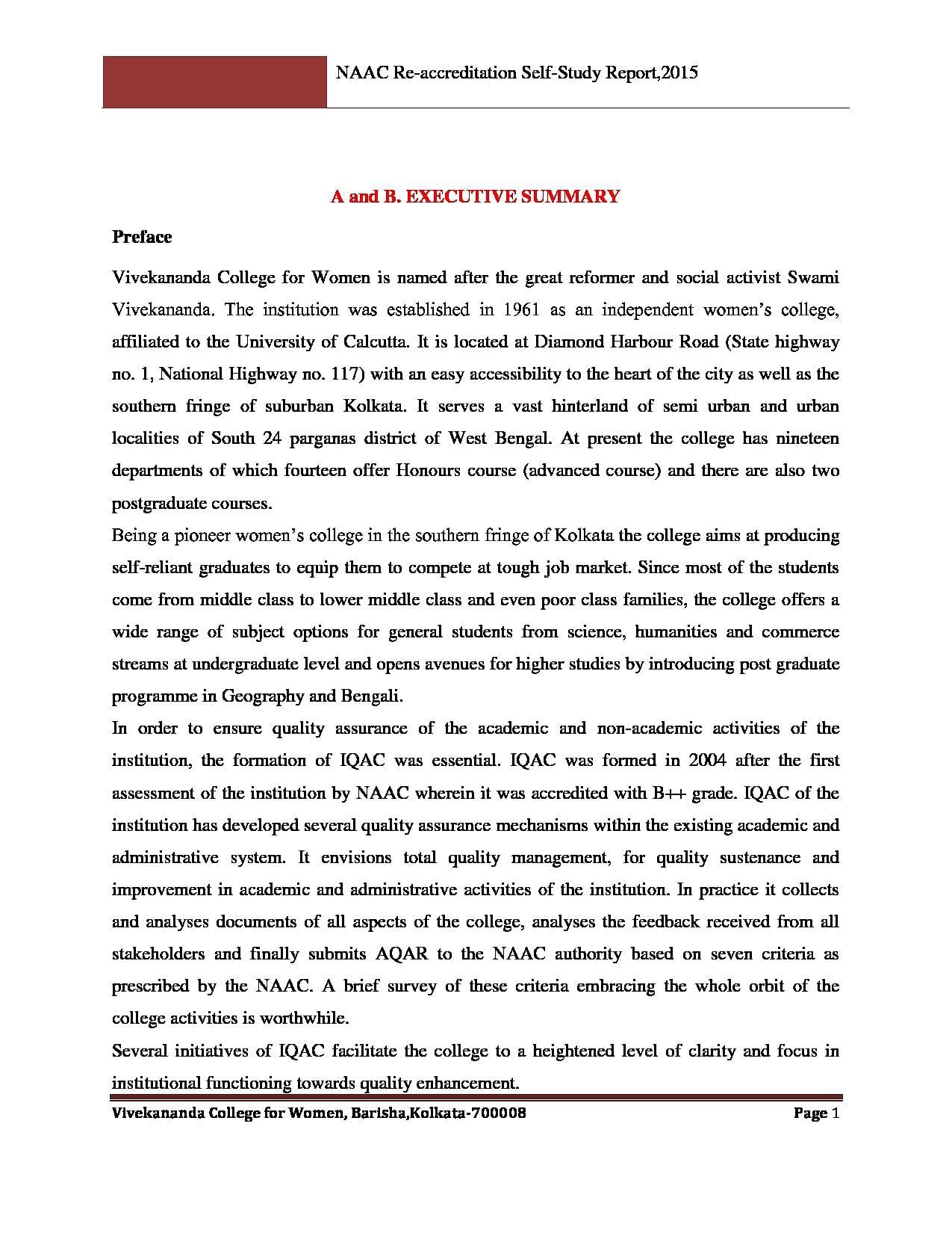 Accreditation Self-Study Document