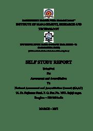 Self Study Report