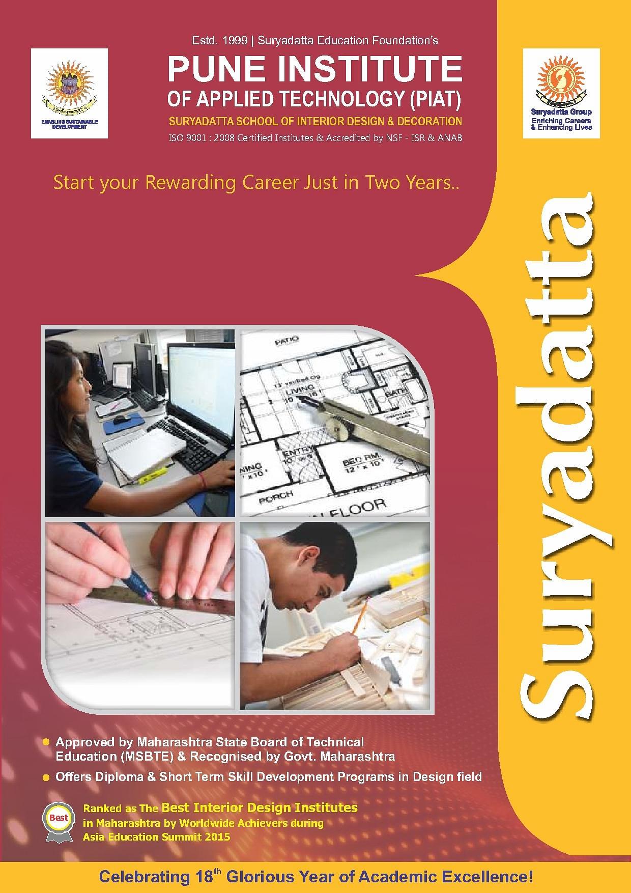 Suryadatta Group Of Institutes Bavdhan Pune PIAT Brochure Image 1