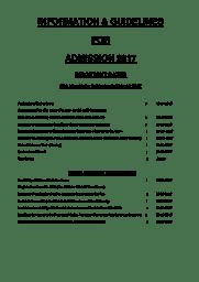 Admission Pamphlet 2017