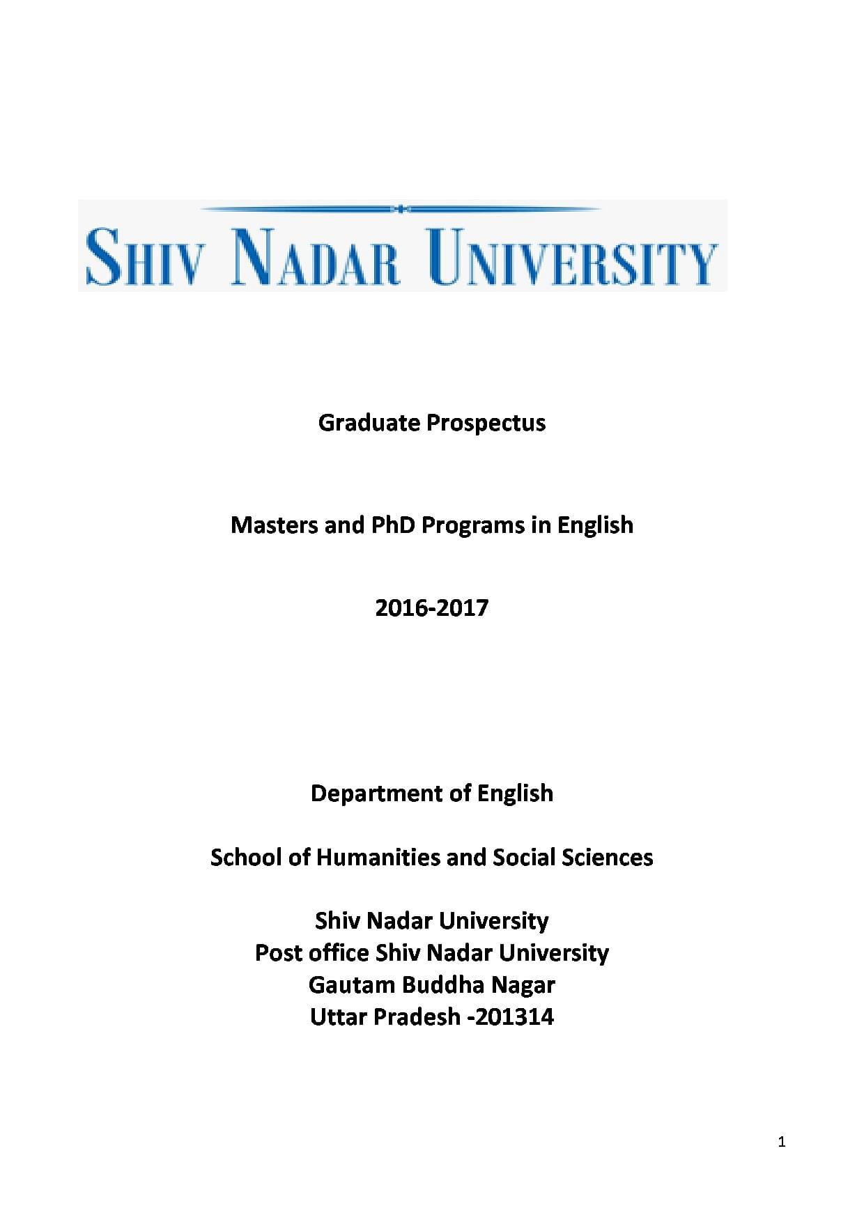 Shiv Nadar University, [SNU] - Admission 2019, Courses, Fees