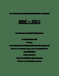 NIRF Data