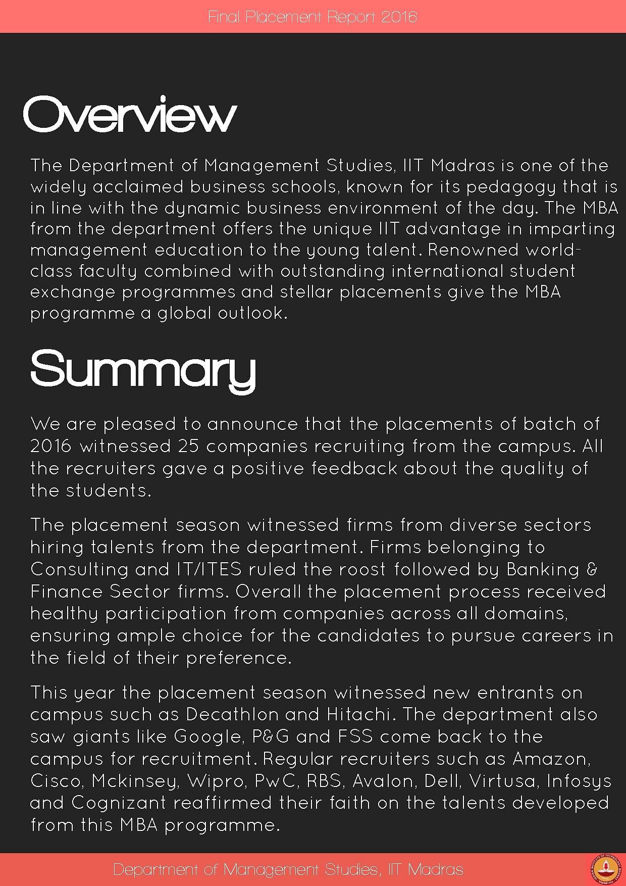 Department of Management Studies, IIT Madras - [DoMS IIT Madras