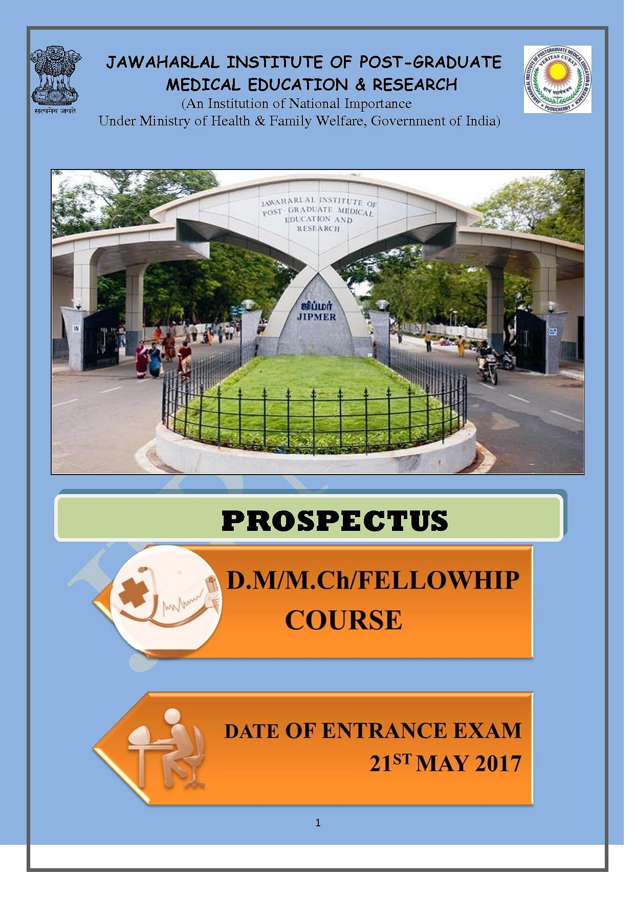JIPMER - Cut off 2019, Courses, Fees, Admission