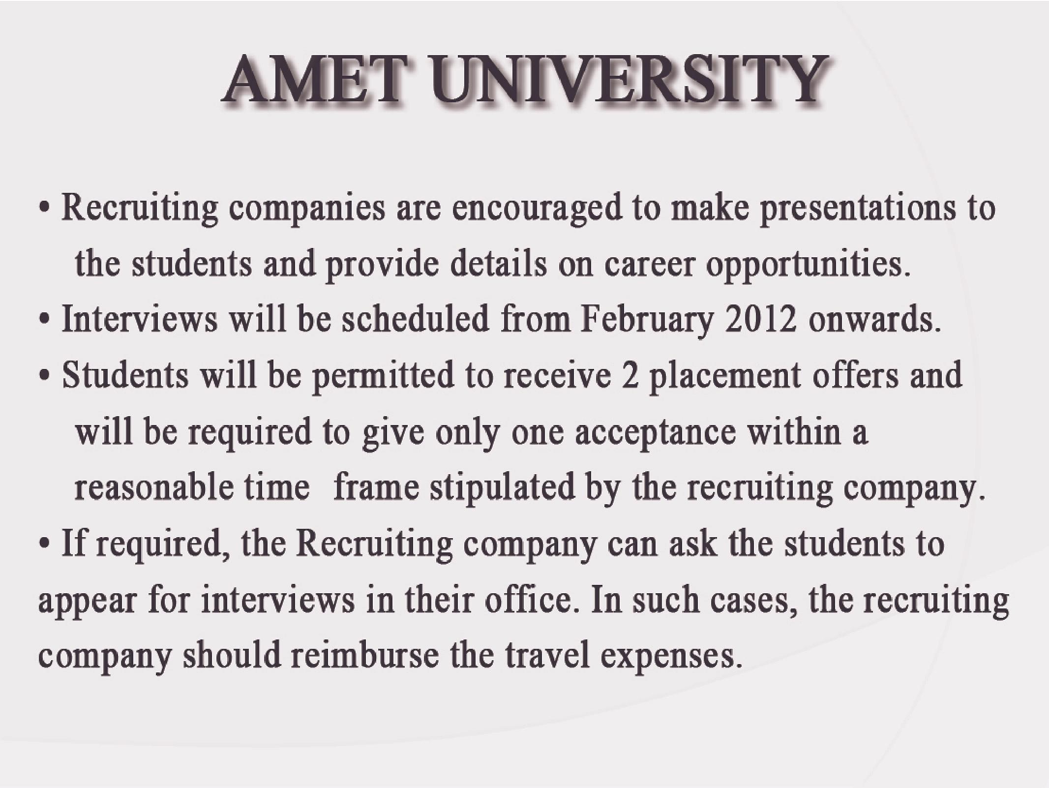 Academy Of Maritime Education And Training University Amet