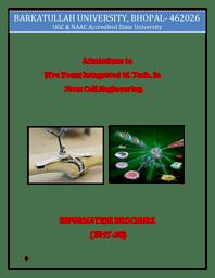 M.Tech Integrated Brochure