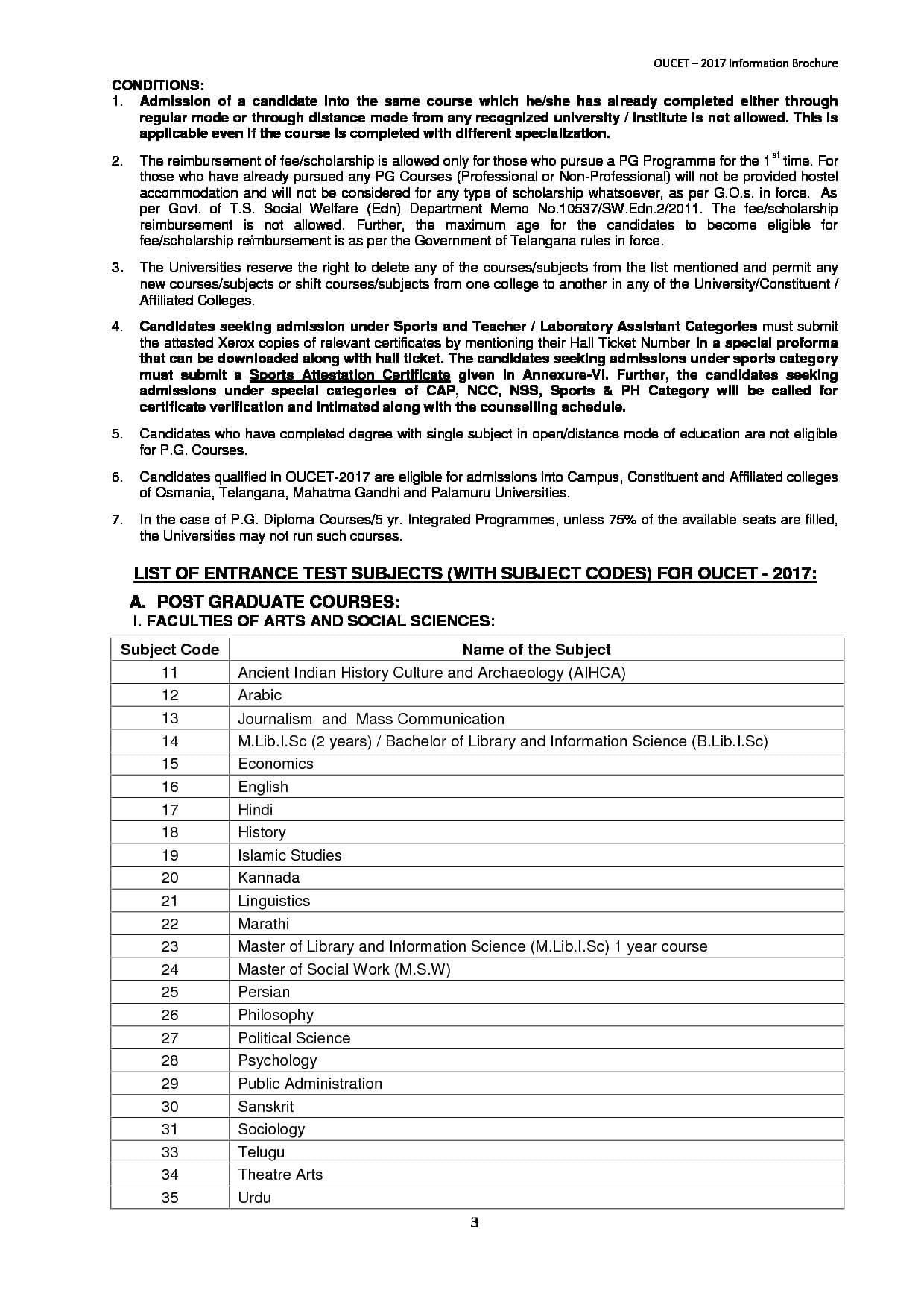 Osmania University (OU), Hyderabad - Courses, Fees, Admission