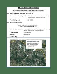 Mandatory Disclosure 2017-2018