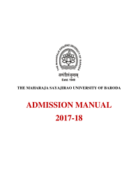 Admission Manual 2017-2018