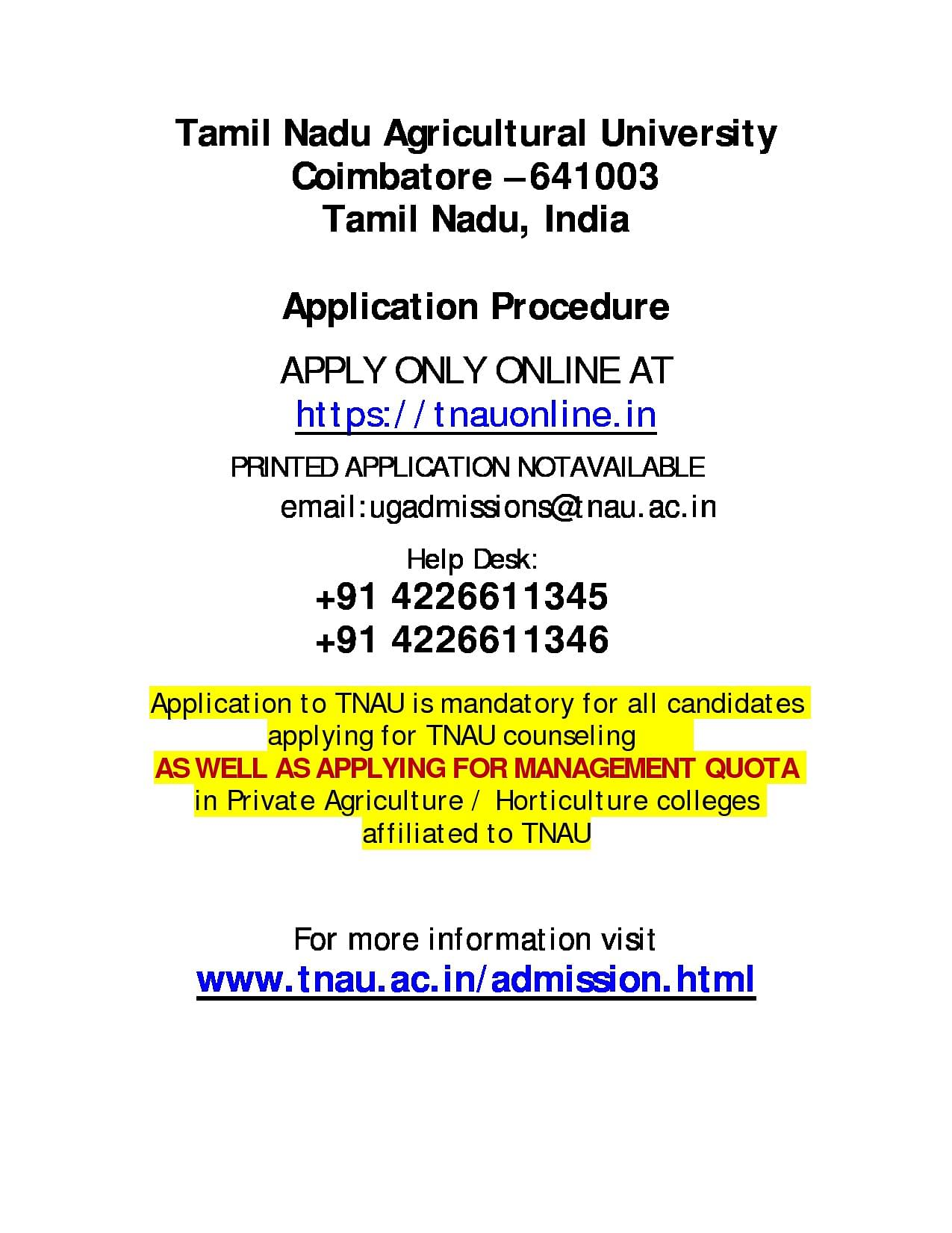 full-2 Tamil Nadu Medical Counselling Application Form on