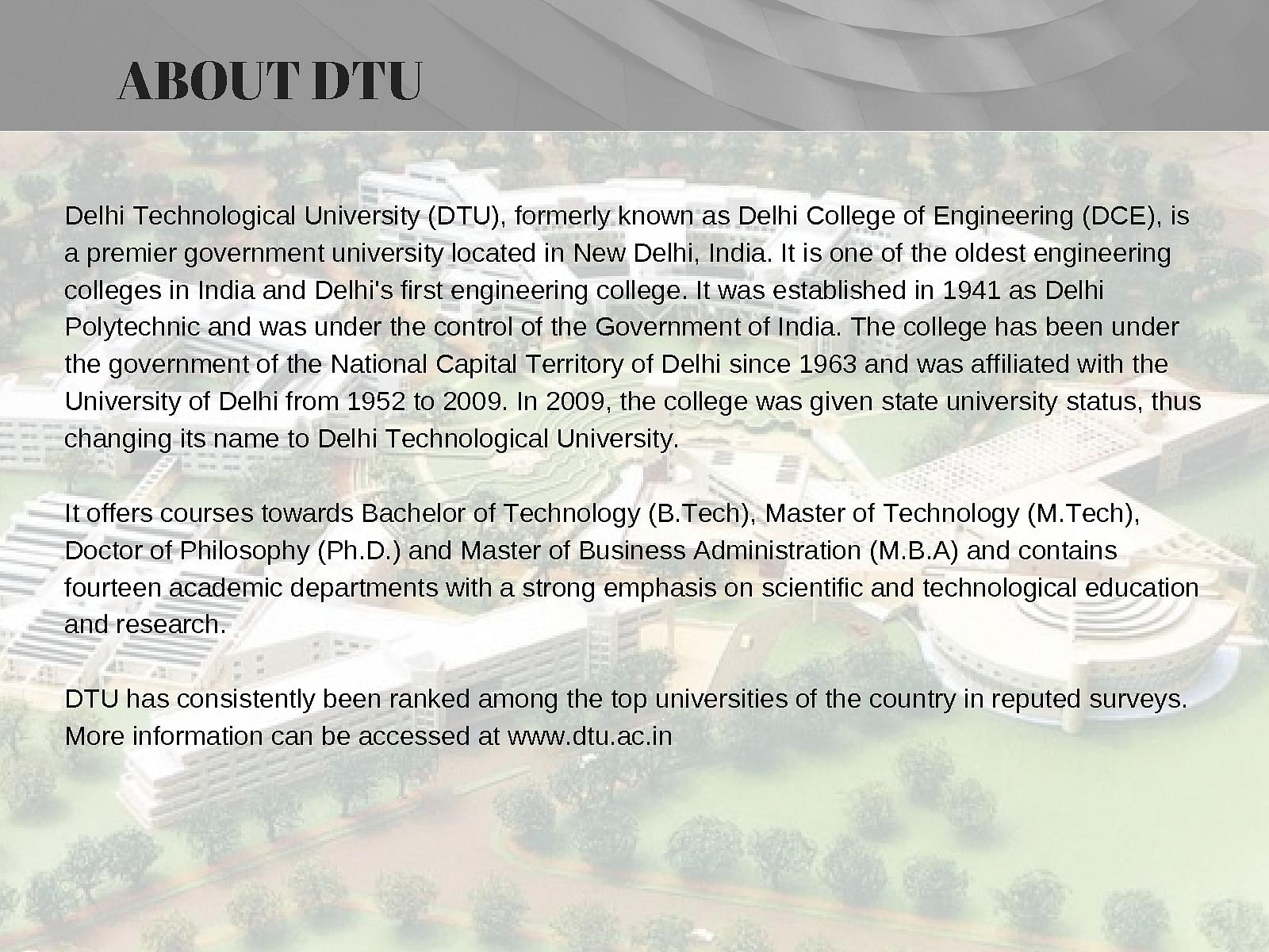 free dating sites in delhi technological university Find researchers and browse departments, publications, full-texts, contact details and general information related to delhi technological university.