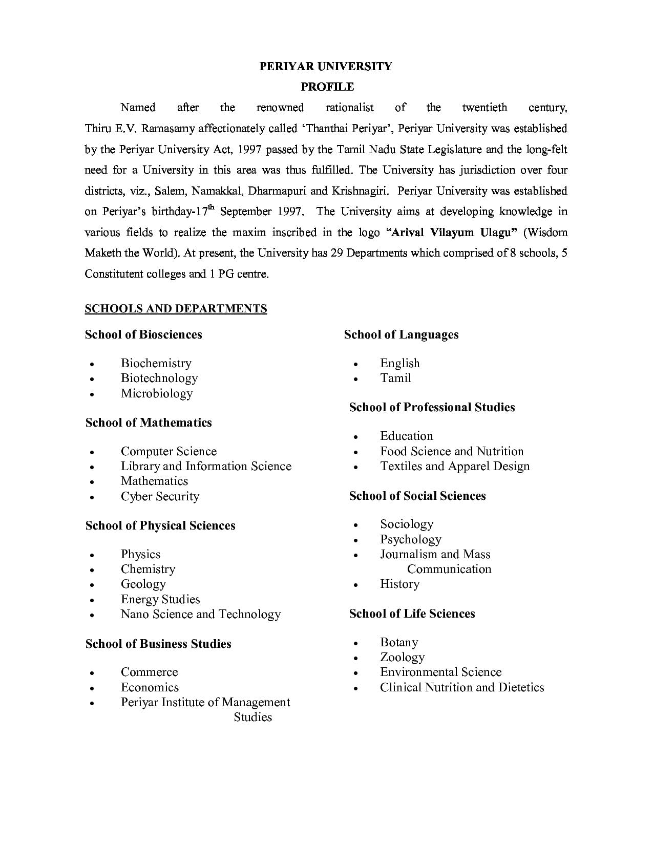 periyar university m phil thesis format