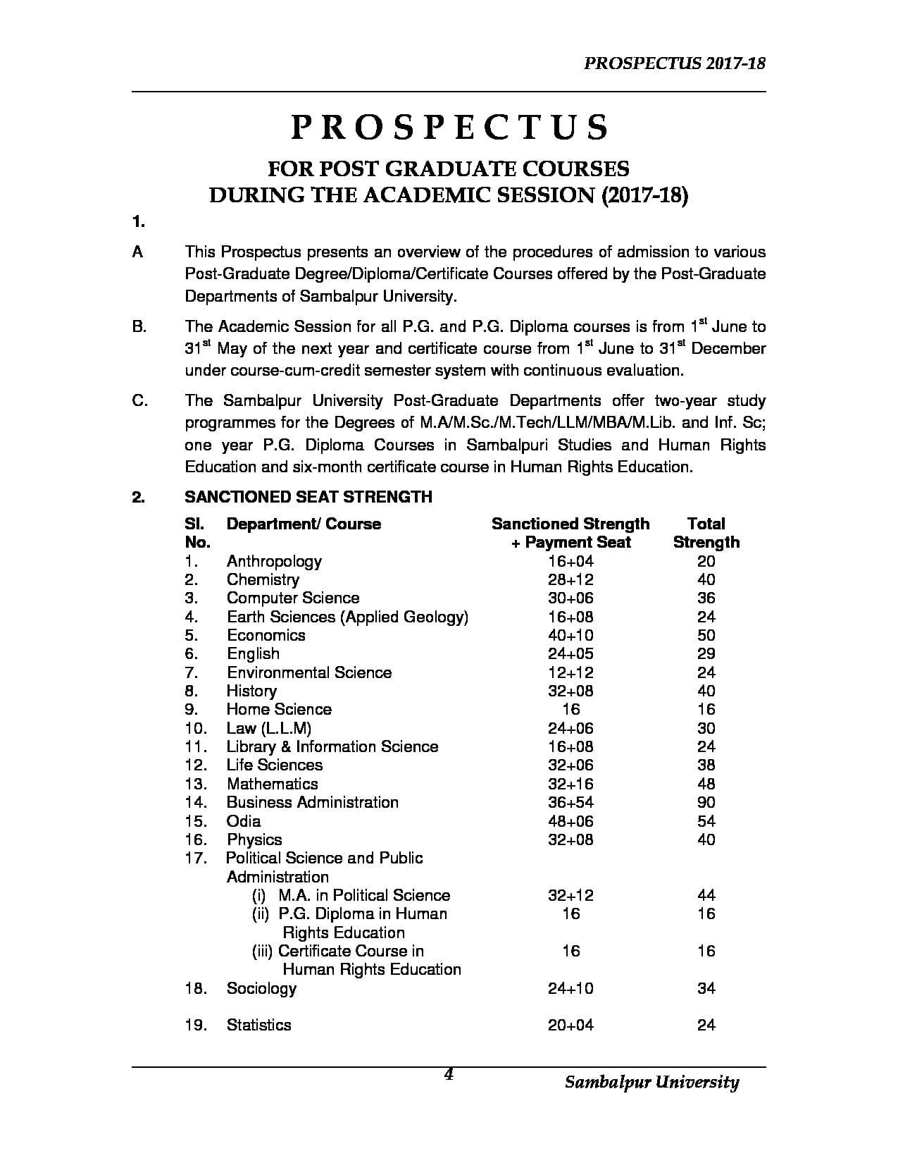 Sambalpur University Sambalpur Admissions Contact Website Facilities 2019 2020