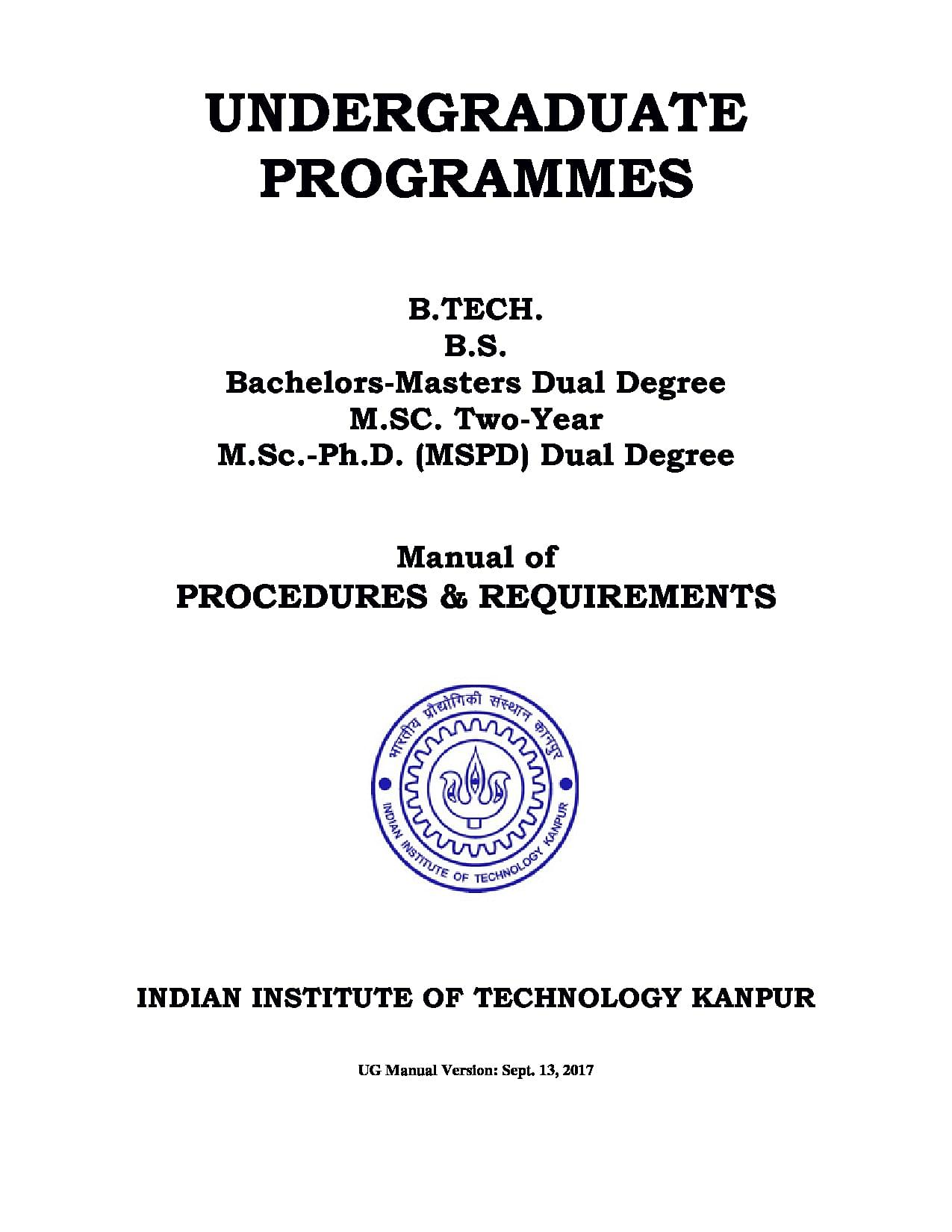 indian institute of technology iit kanpur admissions