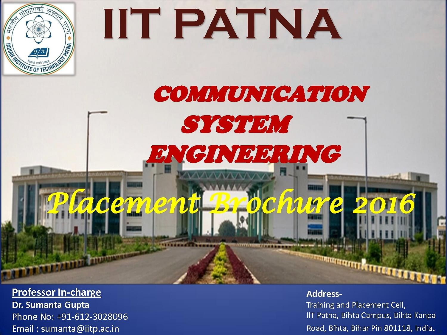 IIT Patna - Courses, Fee Structures, Placements, Ranking, Admissions
