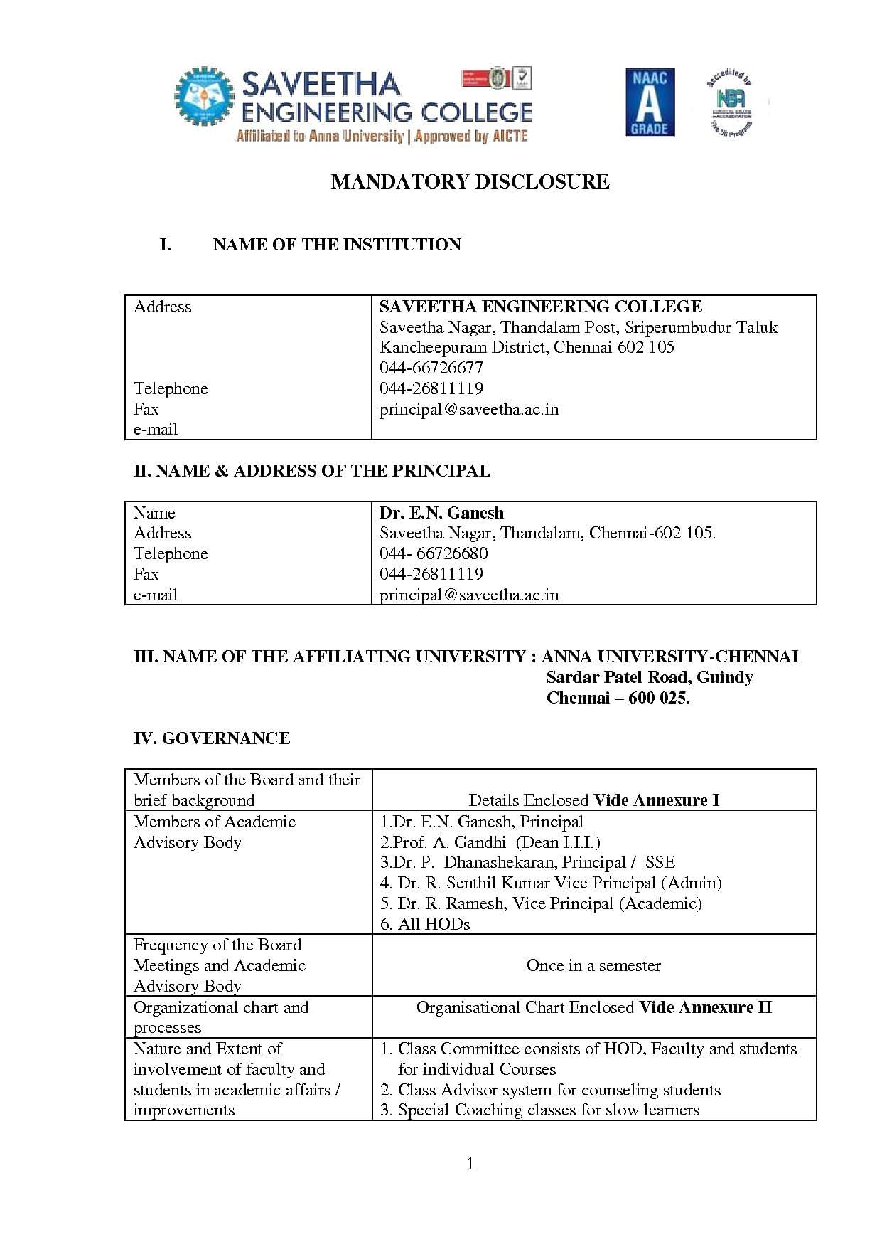 Saveetha Engineering College - [SEC], Chennai - Admissions, Contact