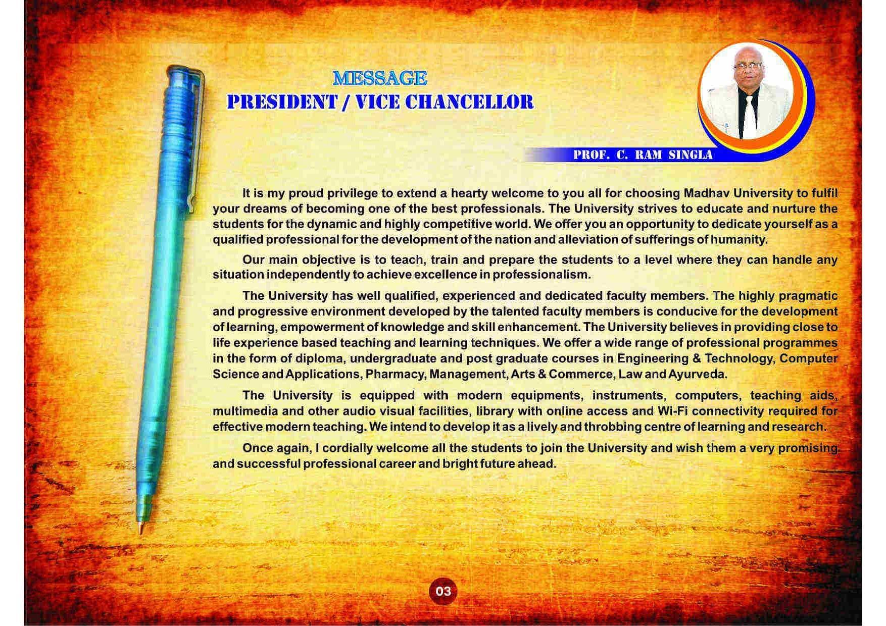 Madhav University - [MU], Sirohi - Admissions, Contact, Website