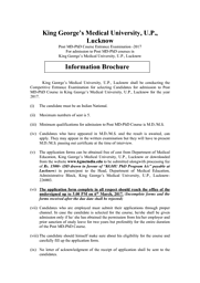 MD+Ph.D. Information Brochure 2017