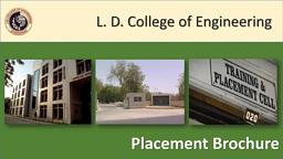 LDCE  Placement Brochure