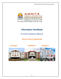 M.Tech Information Brochure