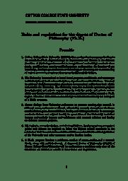Ph.D. Information Brochure