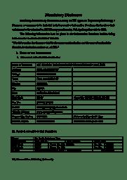 Mandatory Disclosure 2018-19