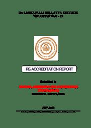NAAC-RAR Report