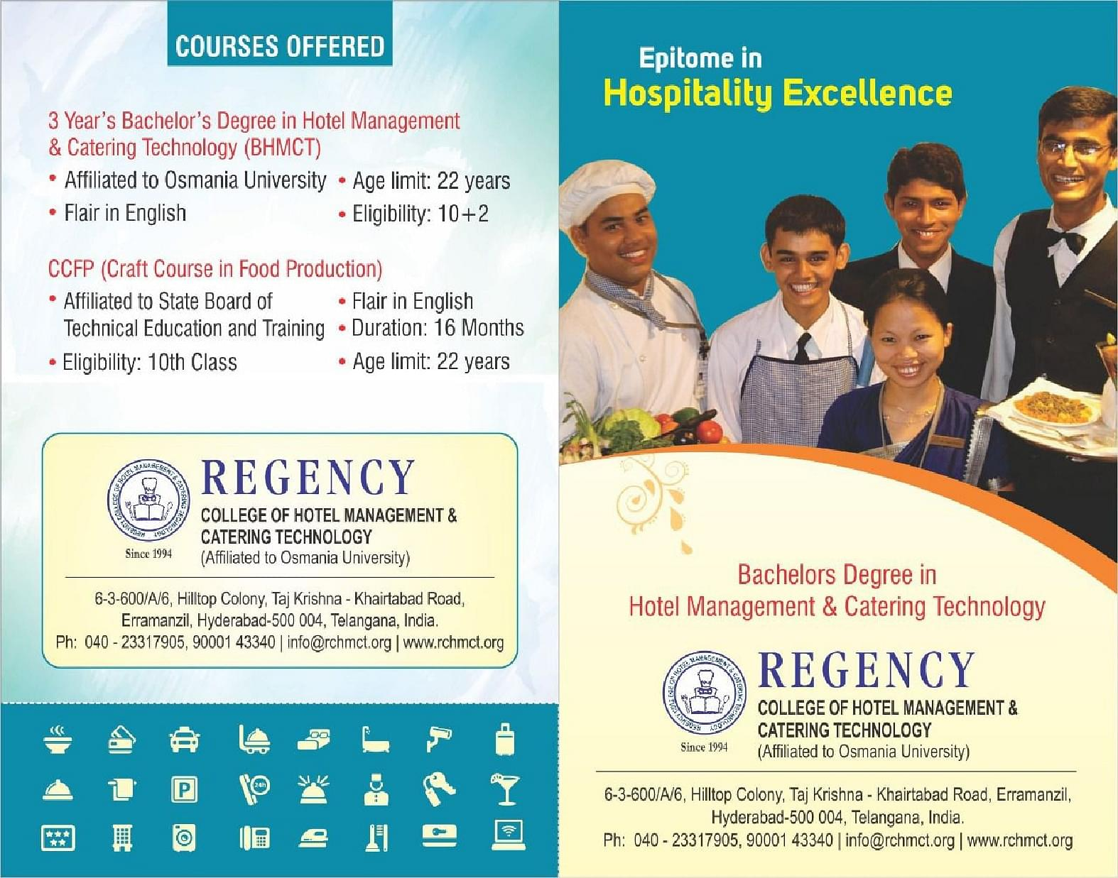 Regency College Of Hotel Management And Catering Technology