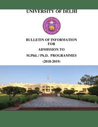DU M.Phil/Ph.D Admission Bulletin 2018