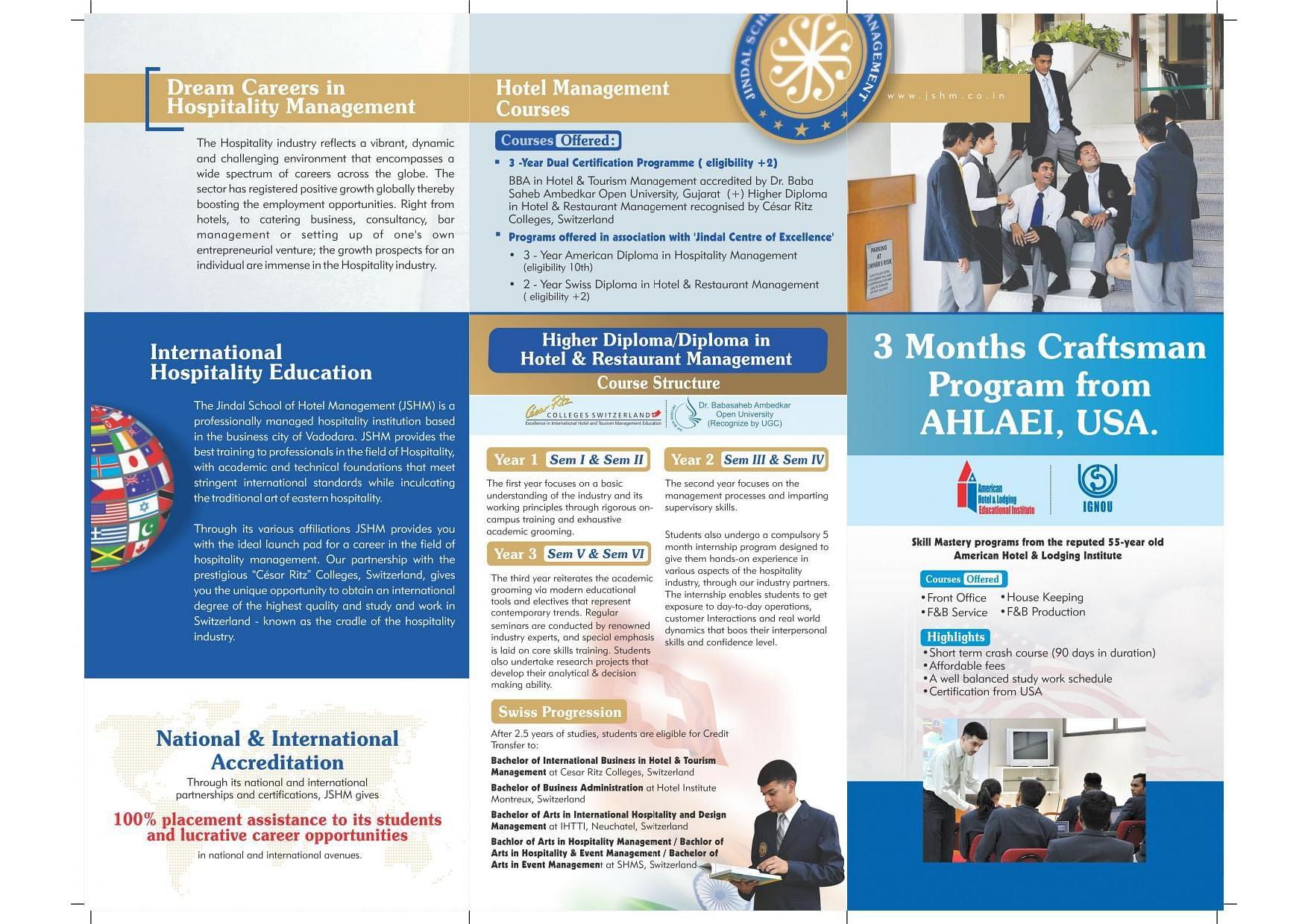Jindal School Of Hotel Management Jshm Vadodara Admissions