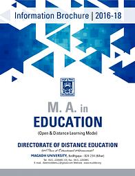 M. A. in Edu Prospectus (2016-18)
