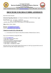 Admission Brochure 2018-19