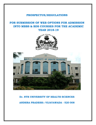 MBBS Admission Brochure 2018-19