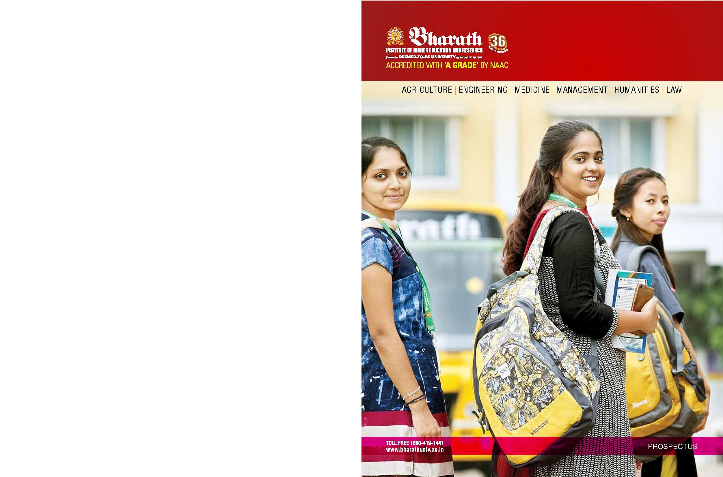 Bharath University (BIHER), Chennai - Course and Fee, Admission