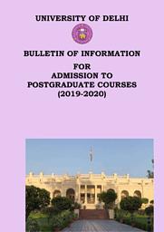DU Postgraduate Brochure 2019-20