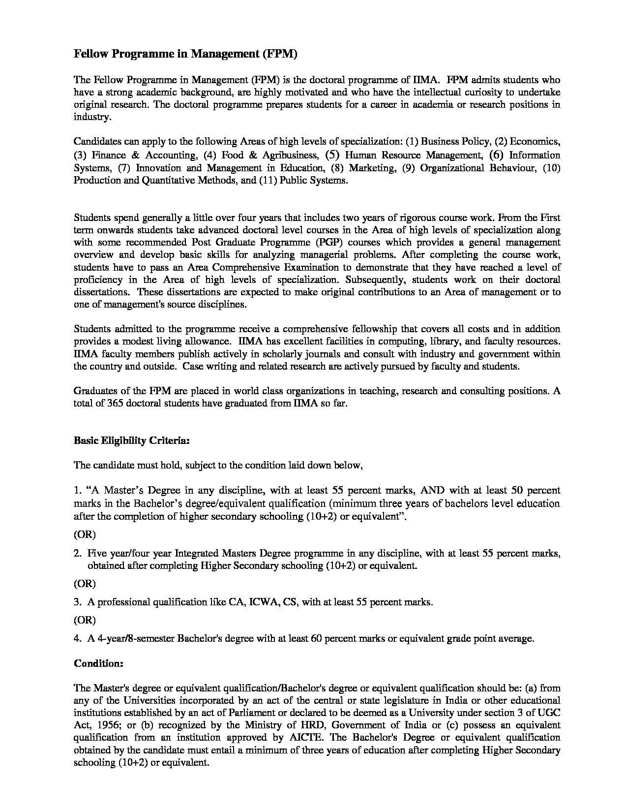 IIM Ahmedabad - Fees, Courses, Admission, Cut Off 2019