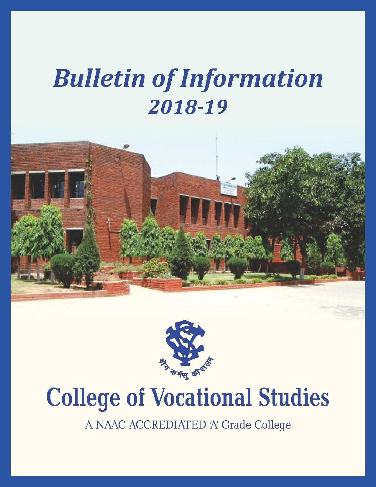 college of vocational studies -  cvs   new delhi