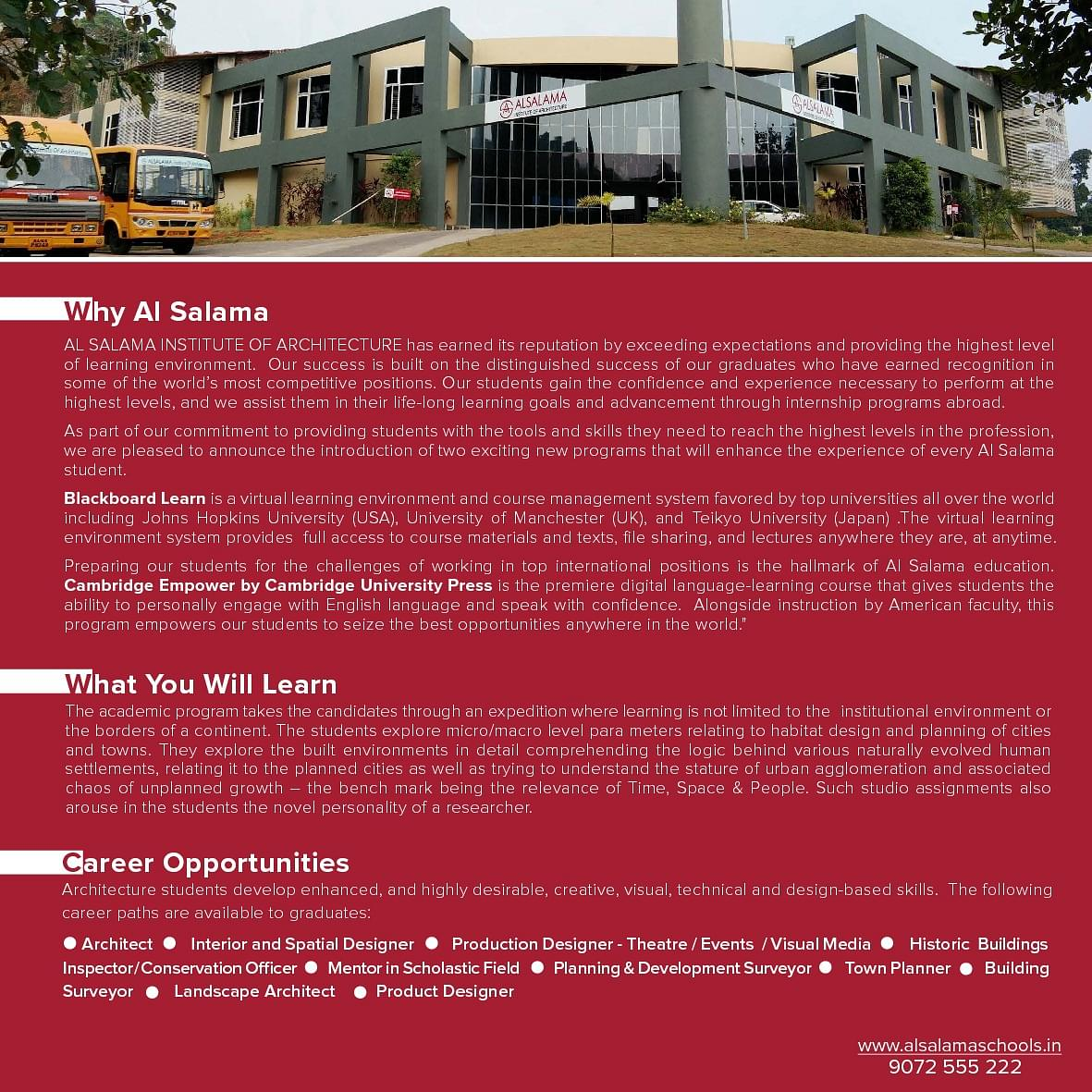 Wondrous Al Salama Institute Of Architecture Asia Perinthalmanna Download Free Architecture Designs Scobabritishbridgeorg