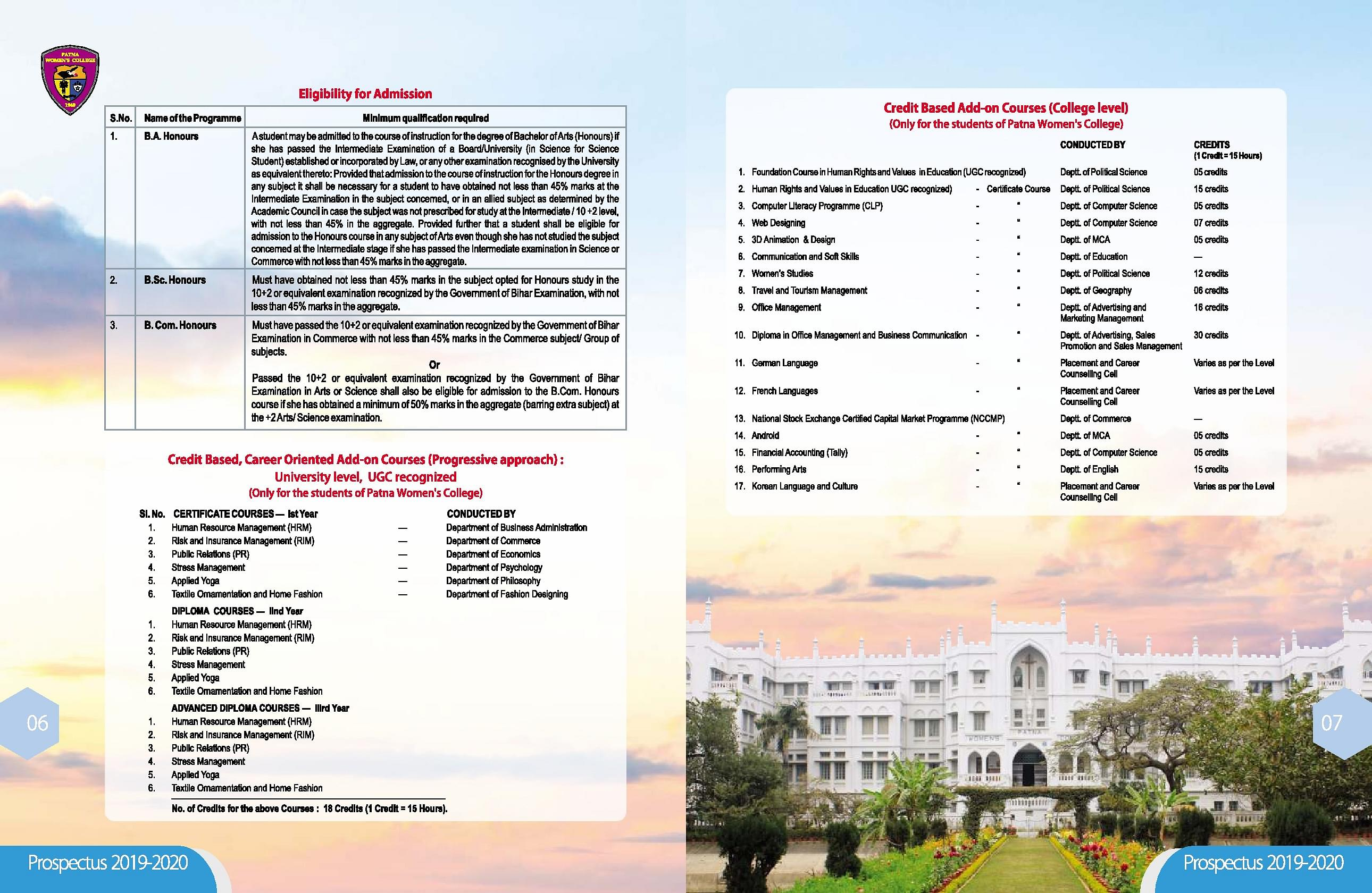 Patna Women's College - [PWC], Patna - Admissions, Contact