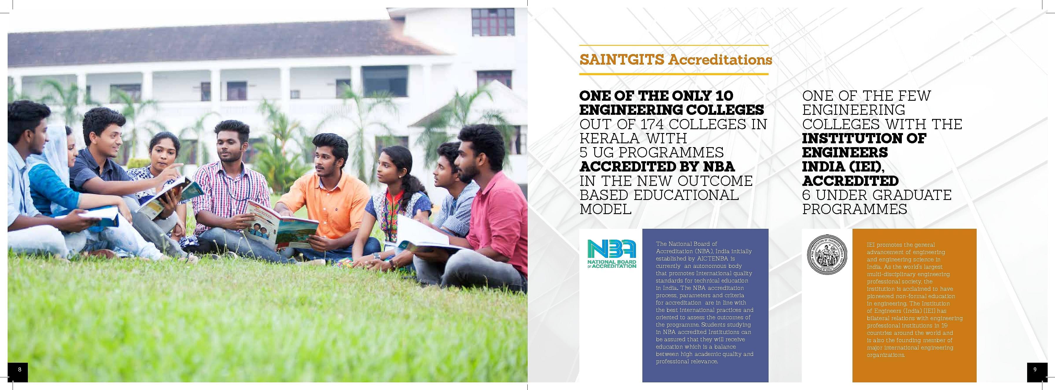 Saintgits College of Engineering, Kottayam - Admissions